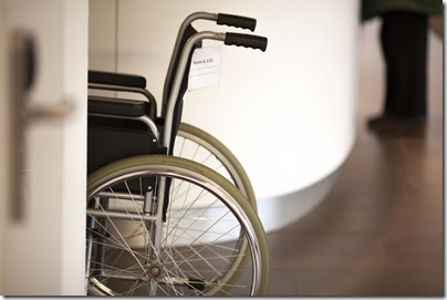 Wheelchair in a doctors office