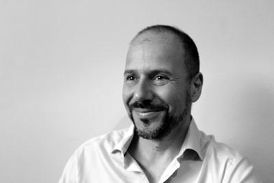 Black and white picture of Claudio Cimini