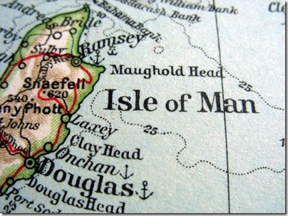 Old school map of the Isle of Man