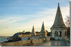 Budapest panorama from Fisherman's Bastion at sunset