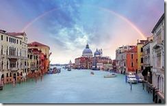 Venice - Rainbow over Grand Canal
